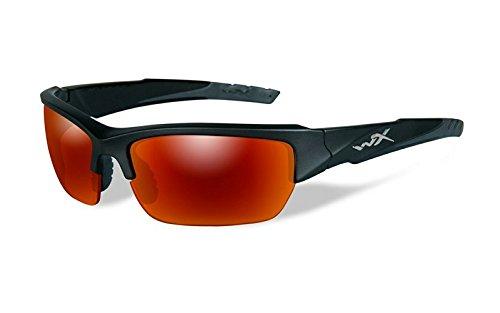Wiley X WX Valor - Occhiali da sole con montatura Realtree Xtra, Montatura Nera/Lente Arancione...