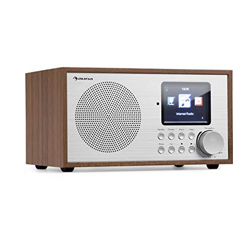AUNA Silver Star - Radio Internet, Mini, DAB+/FM, WiFi, Bluetooth, USB, AUX-In, Line Out, 8W RMS,...