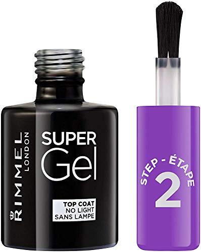 Rimmel - Top Coat Super Gel - Top Coat per Smalto Unghie Effetto Gel a Lunga Durata - Trasparente -...