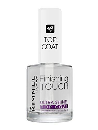 Rimmel London Top Coat Ultra Shine Finishig Touch ad Asciugatura Rapida per Smalto Unghie,...
