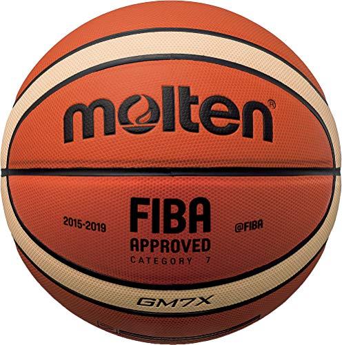 Molten 08775_0100, Pallone da Basket Unisex Bambini, Arancio, 5