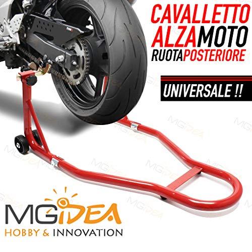 CAVALLETTO MOTO ALZA RUOTA POSTERIORE 450KG BOX PISTA GARAGE ALZAMOTO UNIVERSALE RACING ALLUMINIO...
