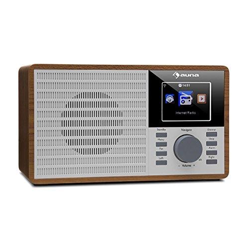AUNA IR-160 Internetradio - Radiosveglia, Radio digitale, wireless, MP3 / WMA compatibile Porta USB,...