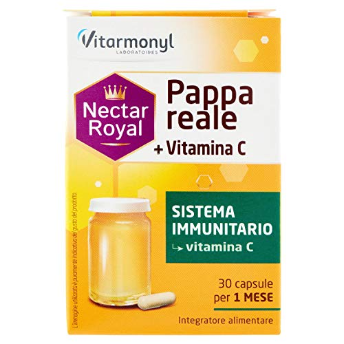 Vitarmonyl NECTAR ROYAL PAPPA REALE + VITAMINA C ● Integratore 30 capsule ● Sistema Immunitario...