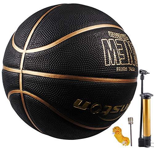 Senston Pallone da Basket di Gomma Unisex Pallacanestro da Basket con Pompa per Bambini Kids -...
