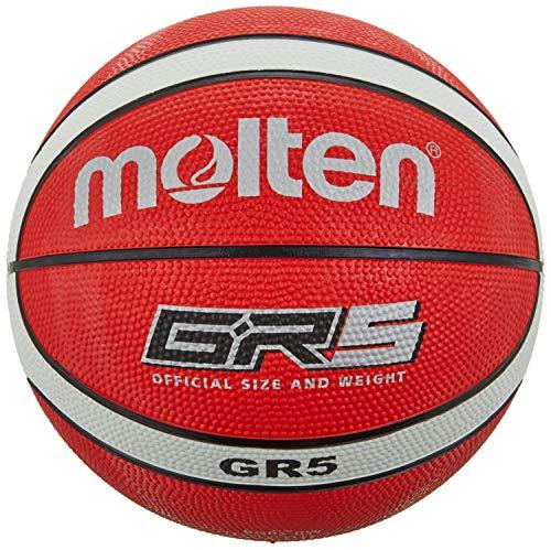Molten BGR5-RW - Pallone da Pallacanestro, 5, Colore: Rosso/Bianco
